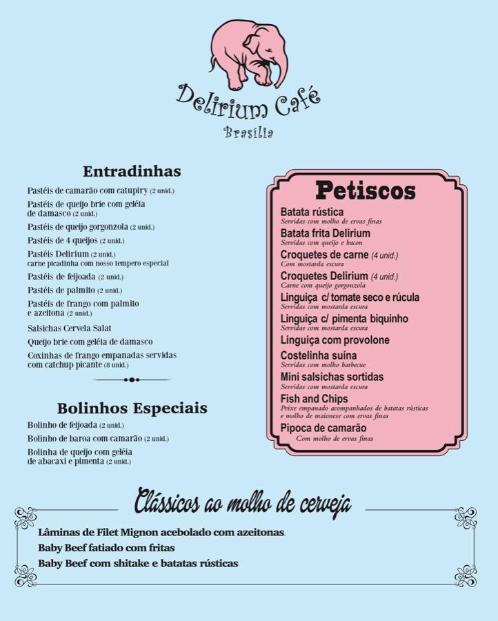 Delirium Café Cardápio Frente